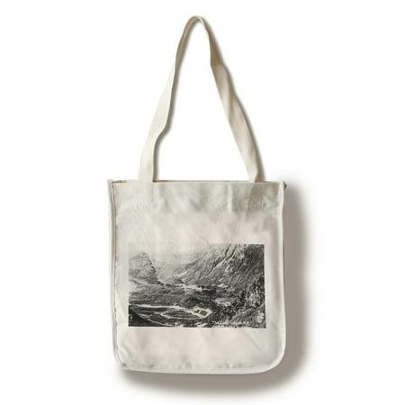 - Alaska - Aerial View of a Railroad Track Loop (100% Cotton Tote Bag - Reusable)