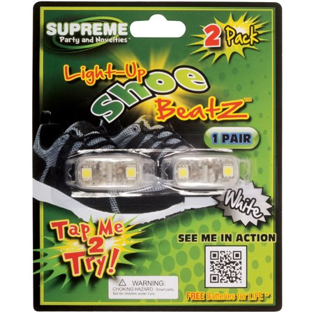 Light Up Shoelace (Supreme Led Shoe Beatz Light Up Laces 2pc LED Shoelaces, White, One)