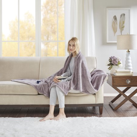 "Electric Plush Throw (60""x70"") Lavender - Beautyrest"