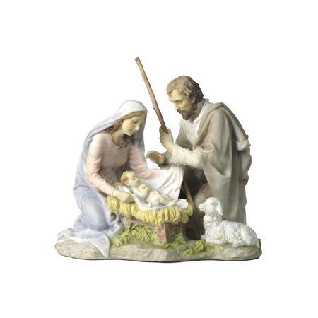 Nativity- Baby Jesus, Mary And Joseph (Light Color) - Religious (Large Lighted Nativity)
