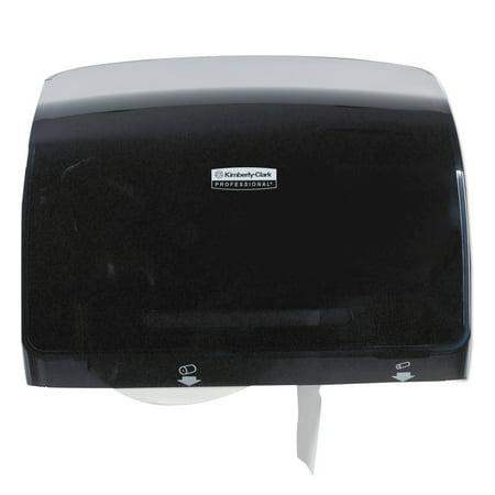 Kimberly-Clark Professional* Coreless JRT Tissue Dispenser, 14 1/10w x 5 4/5d x 10 2/5h, Black
