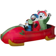Airblown Inflatables Animated Penguin with Snowman on Bobsled