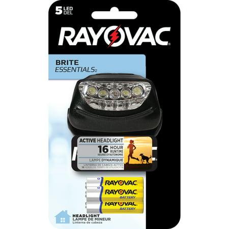 Rayovac Brite Essentials 3AAA 5 LED Headlight BRS5LEDHLT-BB 14 Led Headlamp