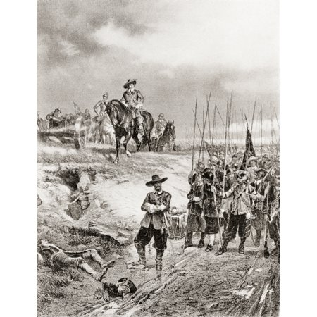 Oliver Cromwell at the Battle of Marston Moor 2 July 1644 during the First English Civil War