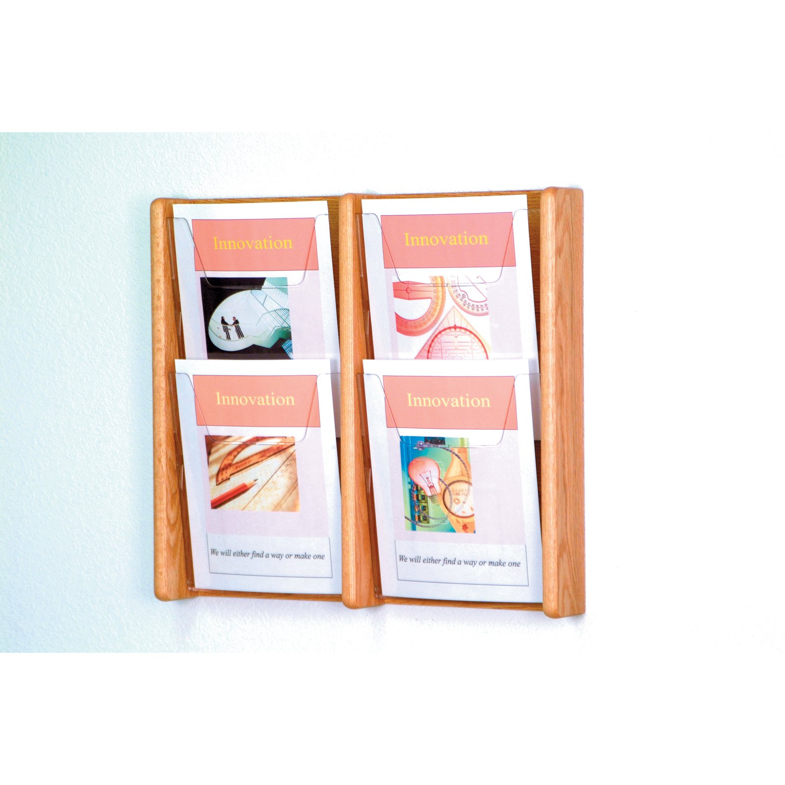 4-Pocket Solid Wood Wall Magazine Rack by Wooden Mallet