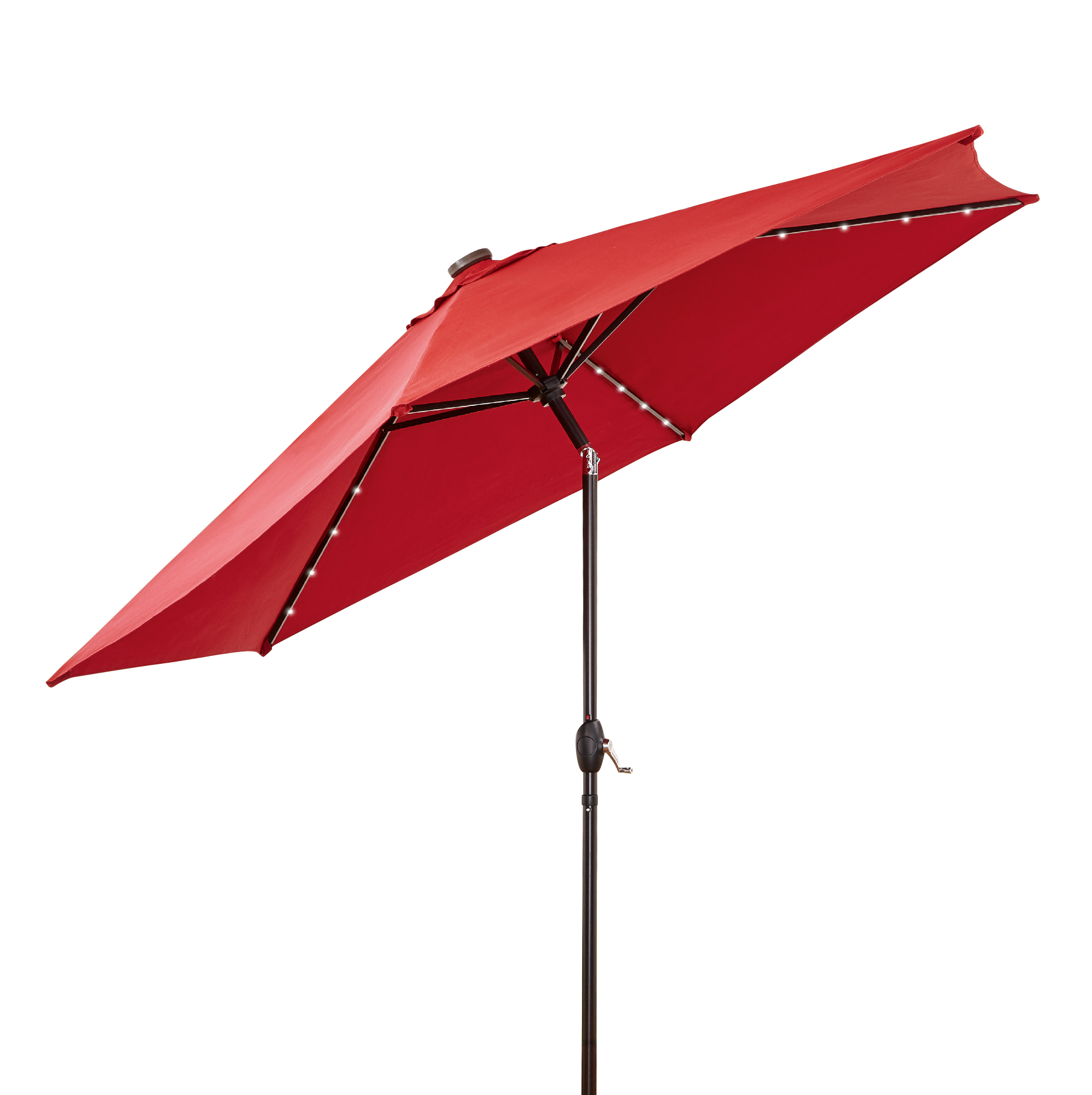 Better Homes and Gardens 10 ft. Solar Umbrella, Red Burgundy by NINGBO EVERLUCK OUTDOOR PRODUCTS MANUFACTING CO LTD