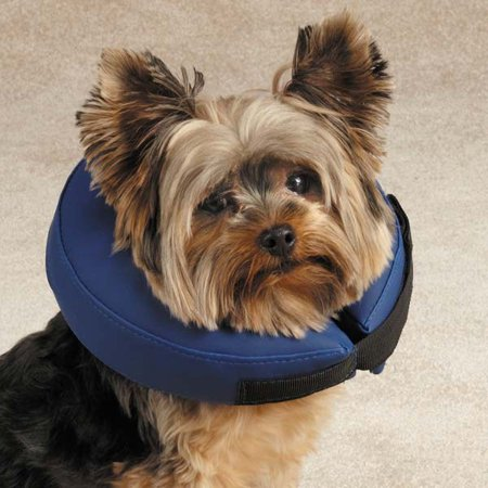 Total Pet Health Inflatable Collar S Blu