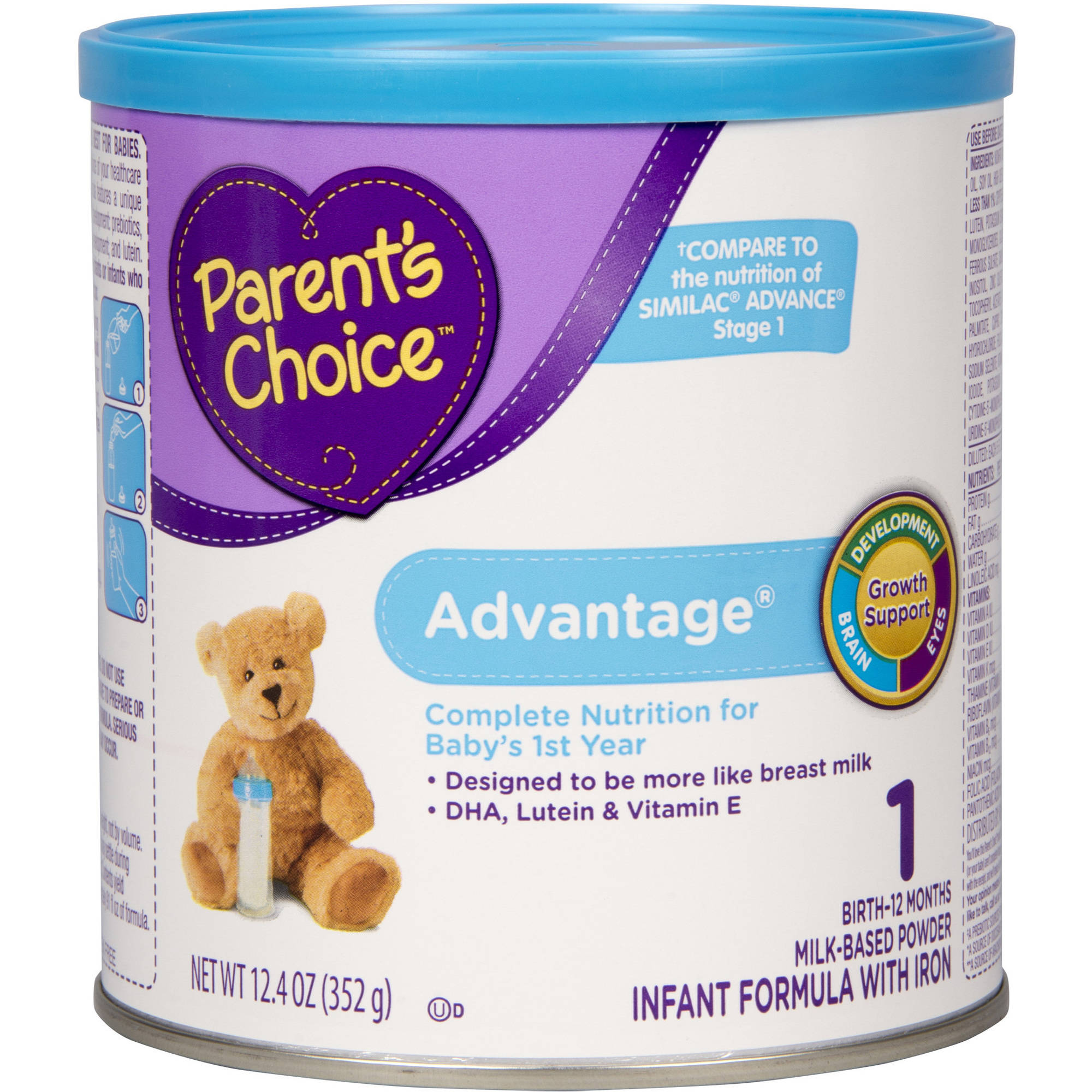 Parent's Choice Advantage Powder Infant Formula with Iron, 12.4oz