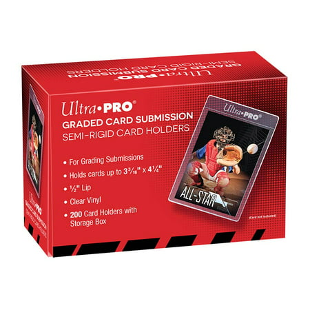 Graded Card Sleeves (200 Ultra Pro Semi Rigid Card Sleeves BGS PSA Submission New Graded 1)