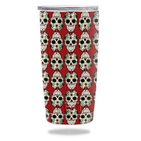 MightySkins Protective Vinyl Skin Decal for YETI 20 oz Rambler Tumbler wrap cover sticker skins Sugar Skull