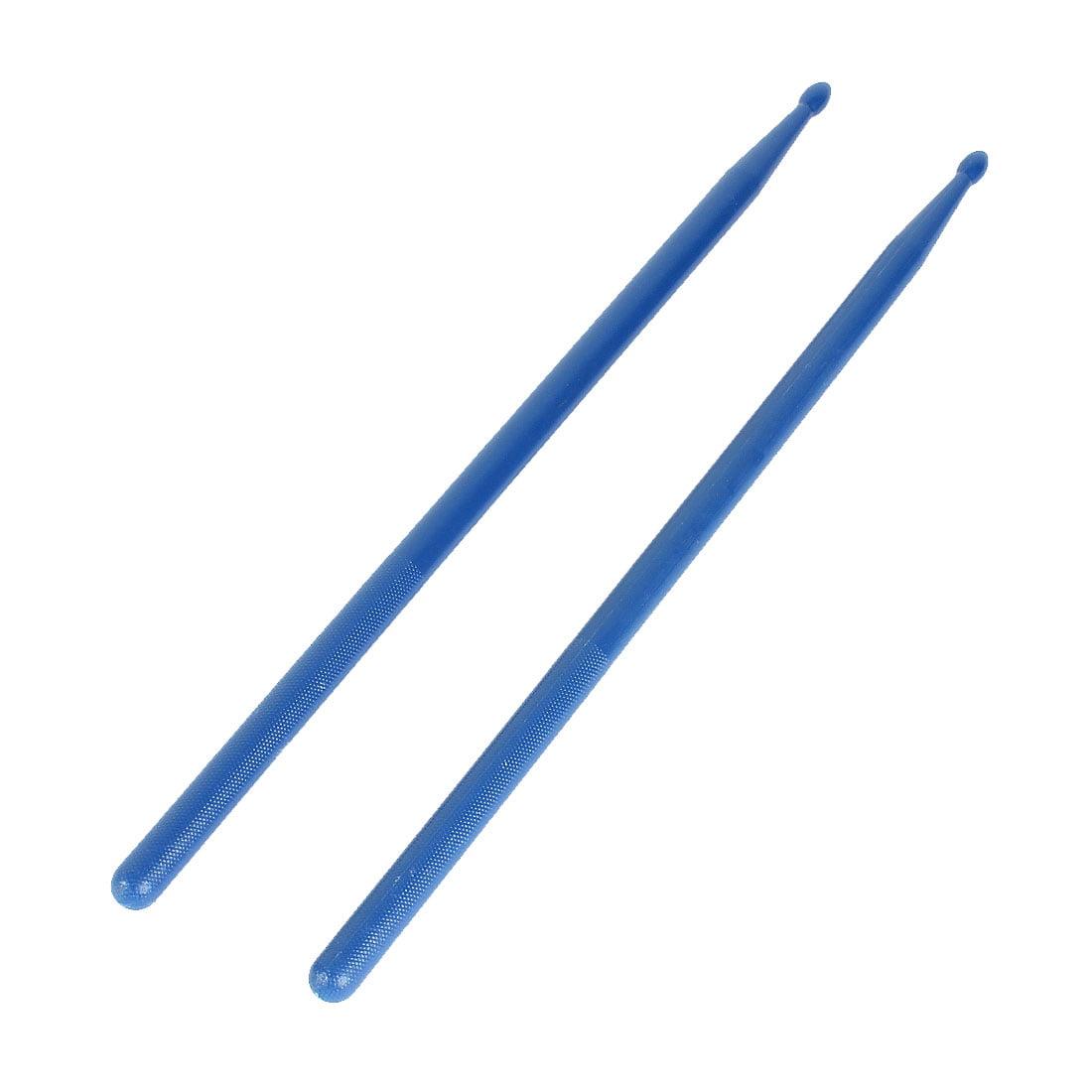 Unique Bargains Blue Plastic Antislip Handle Musical 5A Drum Sticks Drumsticks 2 Pcs by Unique-Bargains