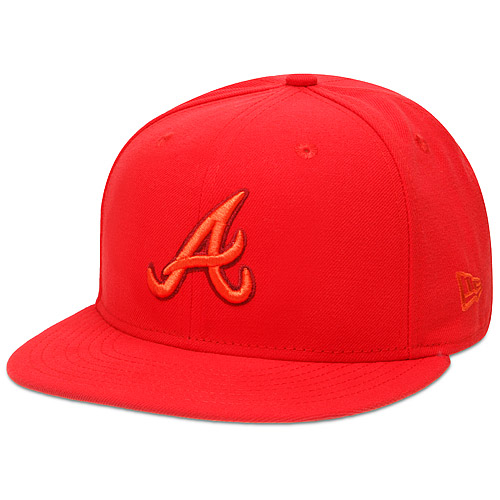 Men's New Era Hot Red Atlanta Braves Tonal Pop 59FIFTY Fitted Hat