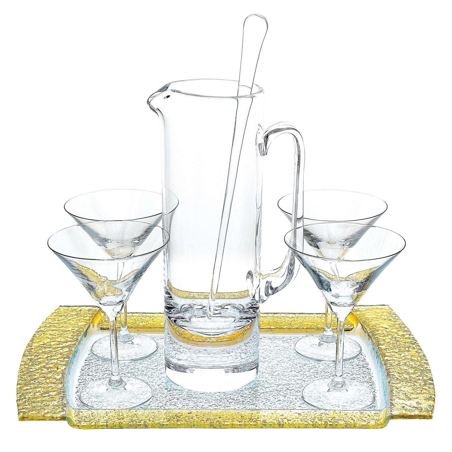 12 Inch 54 Oz European Mouth Blown Lead Free Crystal Martini Pitcher And Stirrer Set Walmart Com Walmart Com