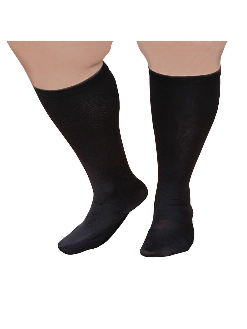 Unisex Extra Wide Moderate Compression Knee High Socks Up To Xw 4e Amp 26 Quot Calf Walmart Com