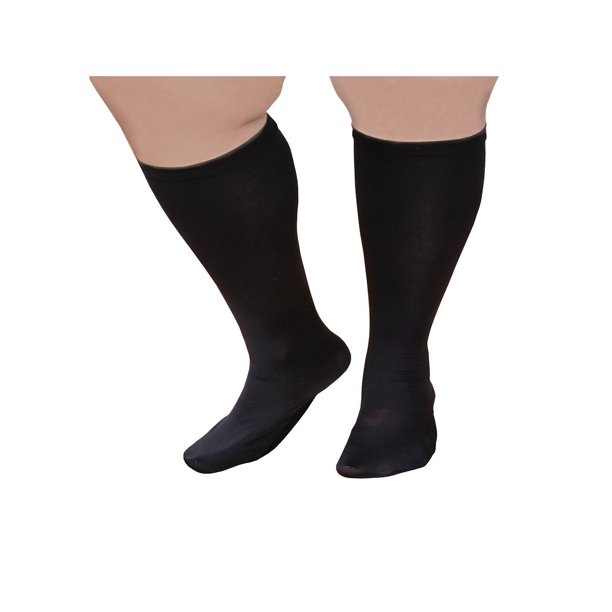 Unisex Extra Wide Moderate Compression Knee High Socks Up To Xw 4e 26 Calf Walmart Com Walmart Com