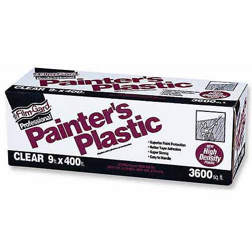 Poly-america Film-Gard Clear Professional Painter's Plastic, 9' x 400'