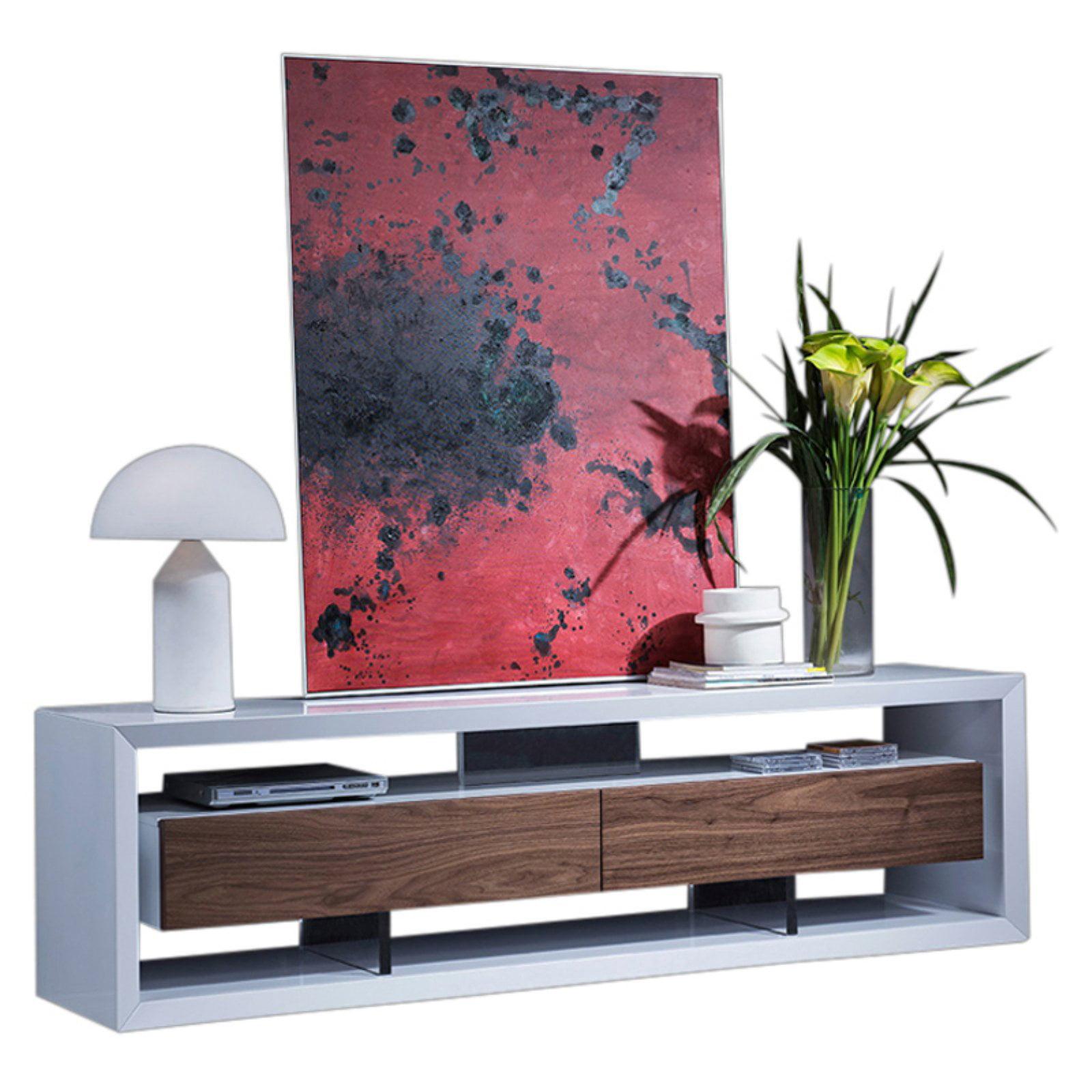 Vig Furniture Modrest Manvel Contemporary Tv Stand White Walnut
