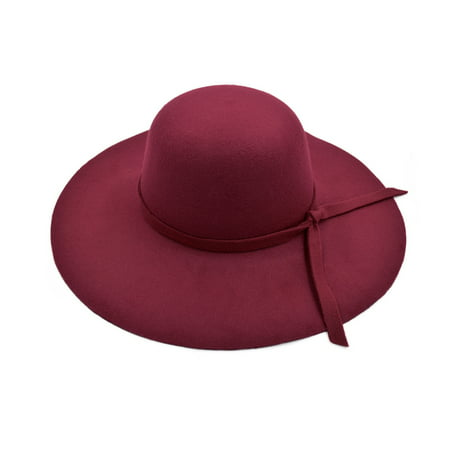 TrendsBlue - Women s Premium Felt Wide Brim Floppy Hat 194869d4c5ff