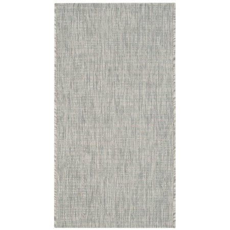 """Safavieh Courtyard 2'3"""" X 12' Power Loomed Rug in Gray and Turquoise - image 8 de 8"""