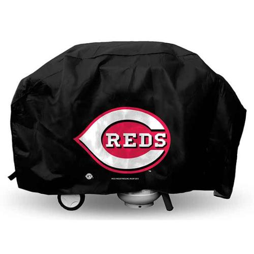 Cincinnati Reds Economy Grill Cover in Black