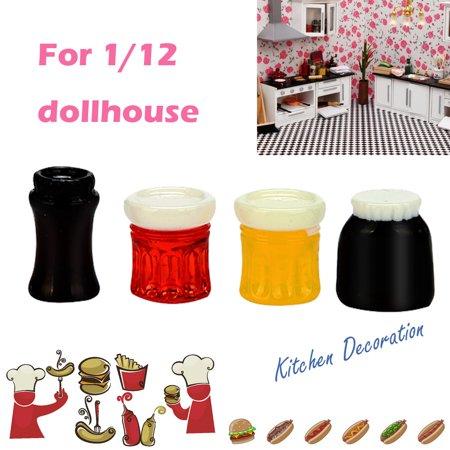 Smart Novelty 1/12 Miniature Scene Kitchen Food Model Dollhouse Accessories Mini Condiment Toy