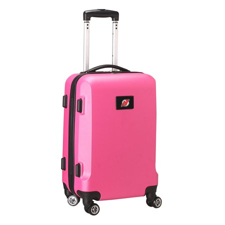 NHL Mojo New Jersey Devils Hardcase Spinner Carry On Suitcase - Pink