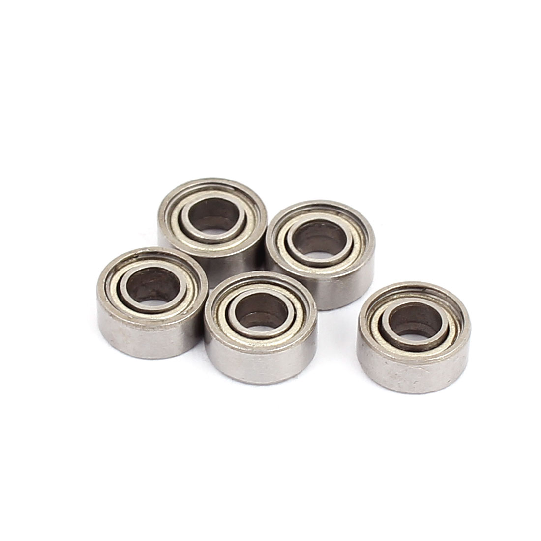 S683Z Double Shielded Deep Groove Ball Bearing Silver Tone 7mm x3mm x3mm 5pcs