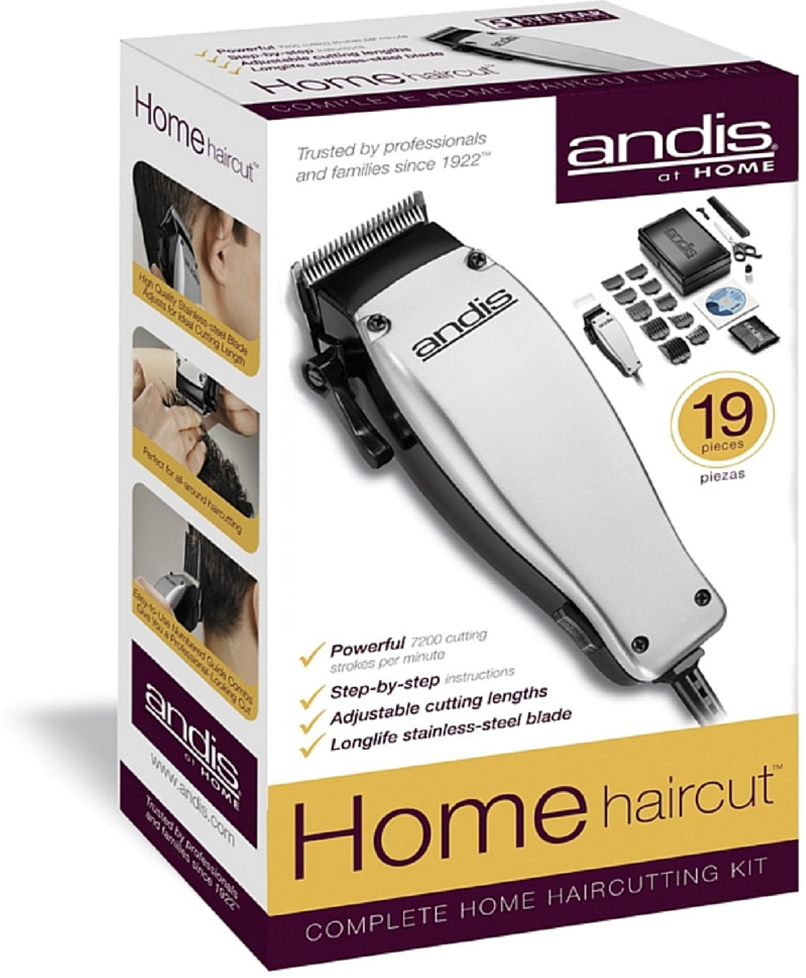 Andis Clippers At Home 19 Piece Complete Home iHair Cuttingi