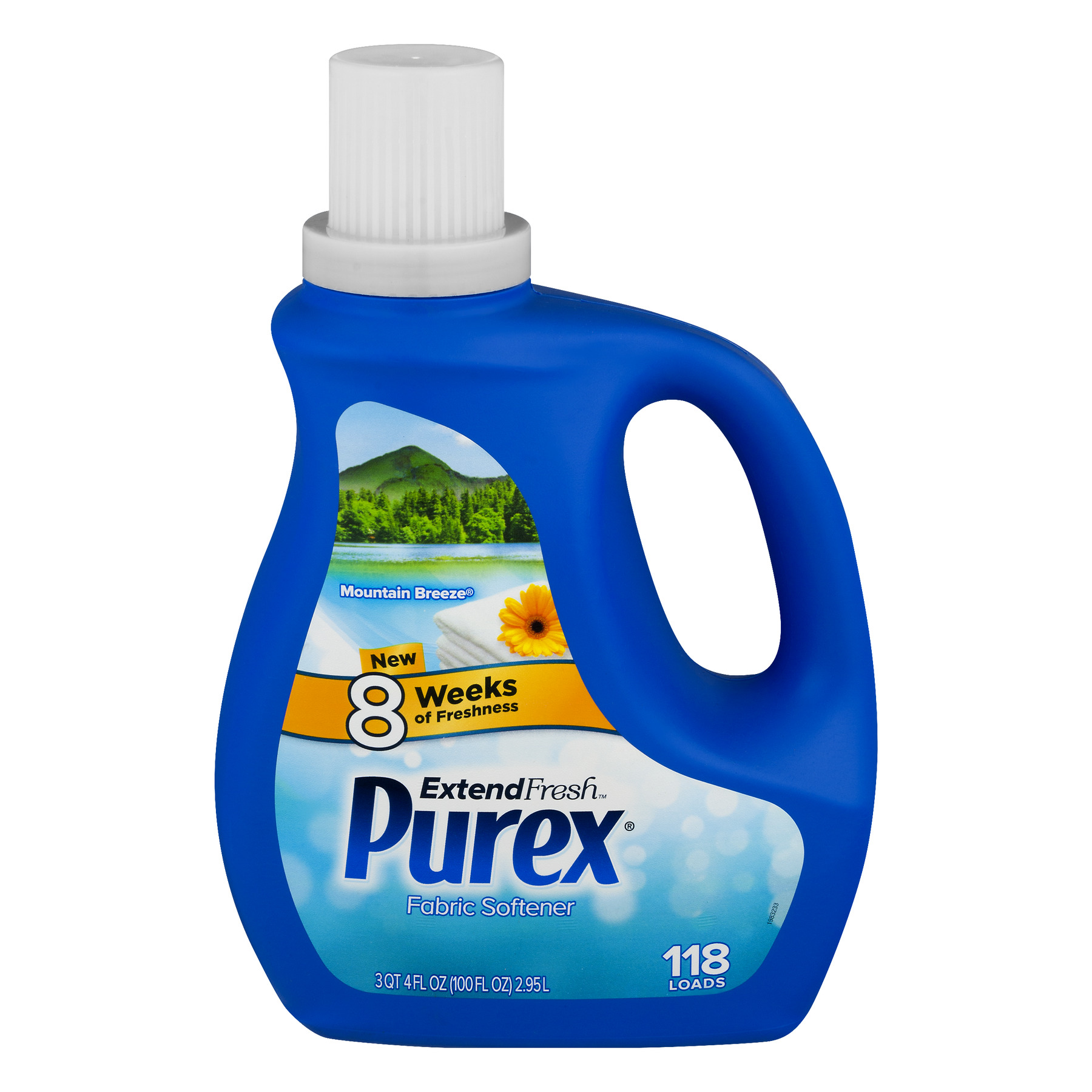 Purex ExtendFresh Liquid Fabric Softener, Mountain Breeze, 100 Ounce, 118 Loads