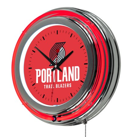 "Portland Trail Blazers NBA 14"" Neon Wall Clock"