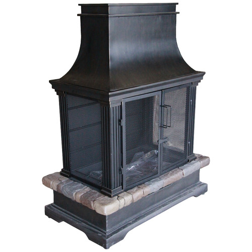 Bond Manufacturing Sevilla Steel Slate Gas Outdoor Fireplace