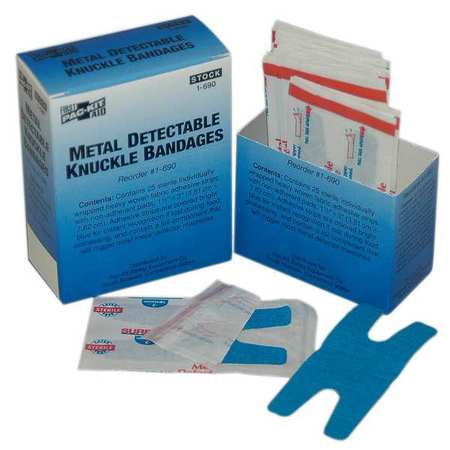 PAC-KIT Metal Detectable Knuckle Bandage,PK25 1-690G
