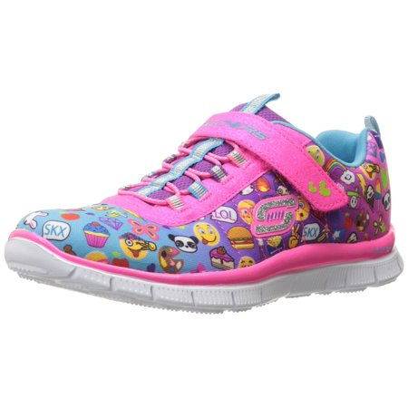 - Skechers Kids Girls' Skech Appeal-Pixel Princess Sneaker, Emoji Multi
