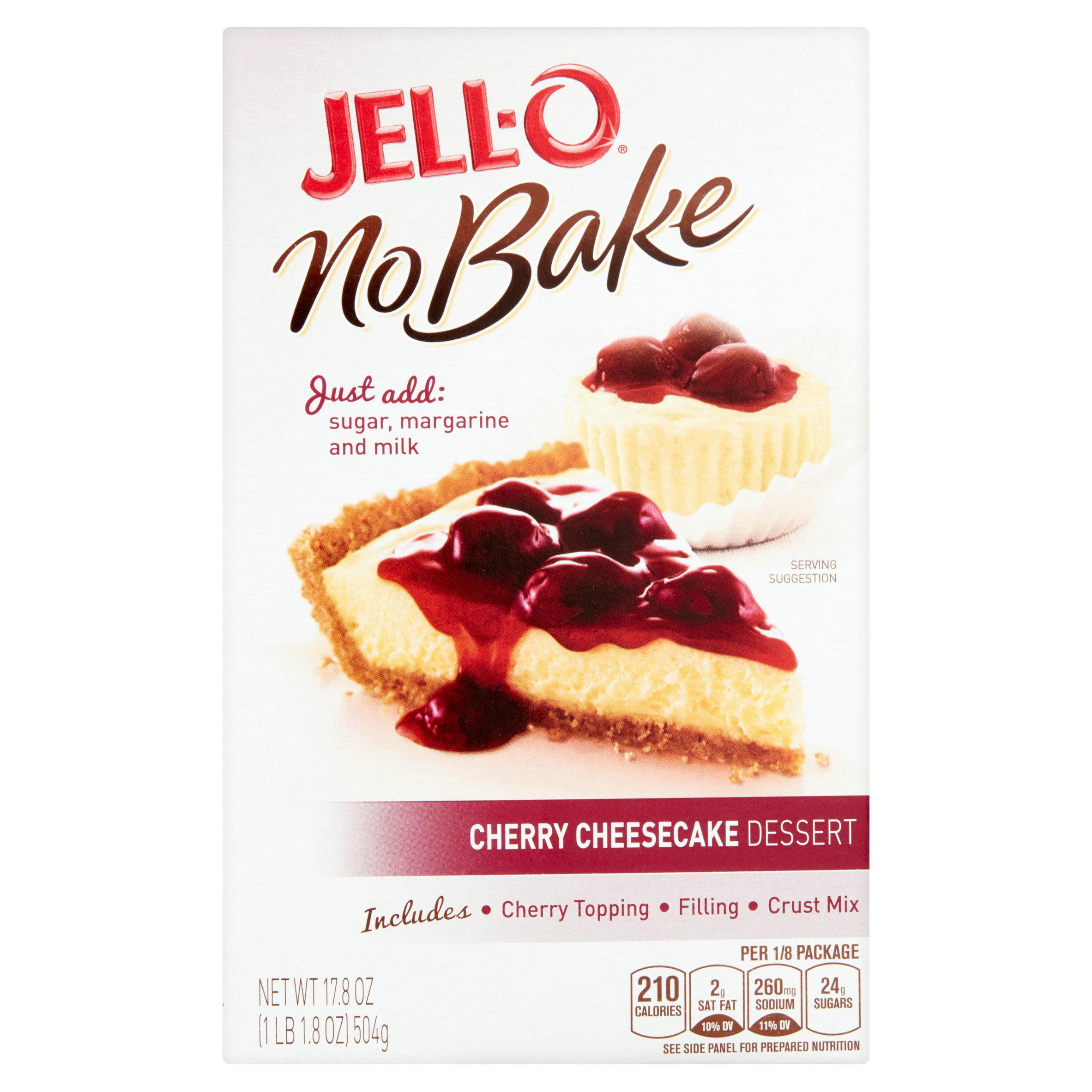 Jell-O No Bake Cherry Cheesecake Dessert Kit, 17.8 Oz by Generic