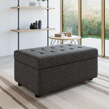 Super Realrooms Erika Rectangular Storage Ottoman Small Space Living Multiple Colors Short Links Chair Design For Home Short Linksinfo