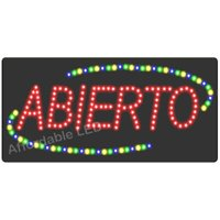 Affordable LED L7050 12 H x 24 L in. LED Spanish Open Sign