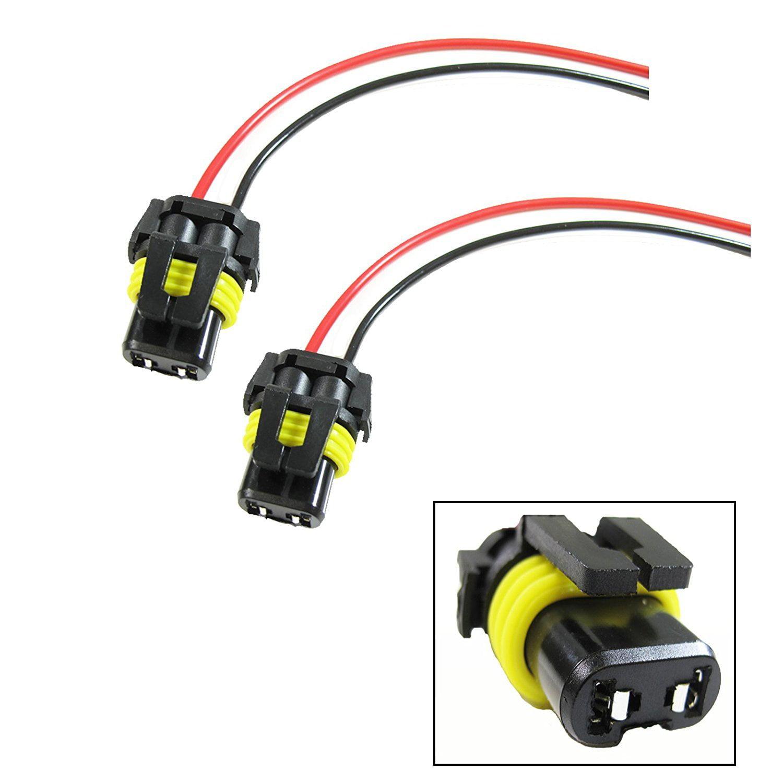 2x New 9006 9005 H10 Adapter Wiring Harness Socket For Headlight Fog Lights Top