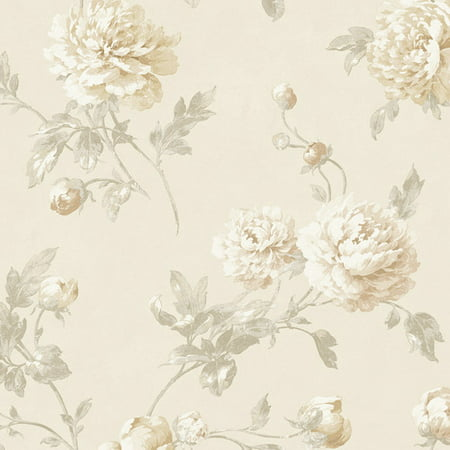 York Wallcoverings Fresco Wellington 27' x 27'' Floral and Bontanical 3D Embossed Wallpaper