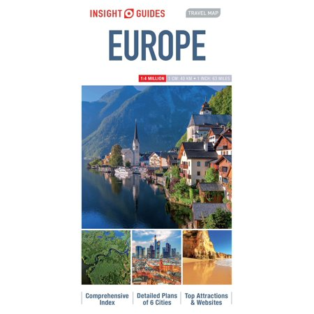 Insight guides travel map europe - folded map: