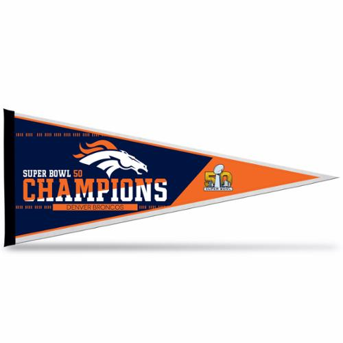Denver Broncos Official NFL 30 inch  x 12 inch  Super Bowl 50 Champions Pennant by Rico