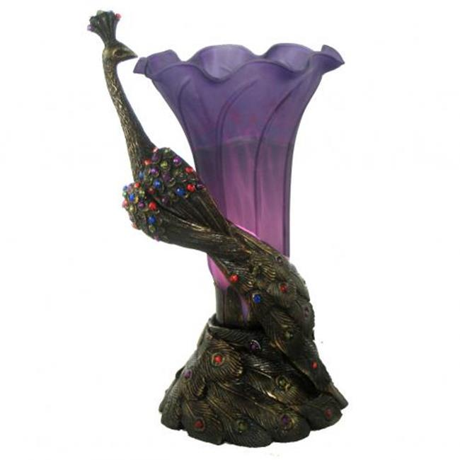 Standard Specialty 6754 Poly Peacock Purple Tulip Shade Lamp by SSC