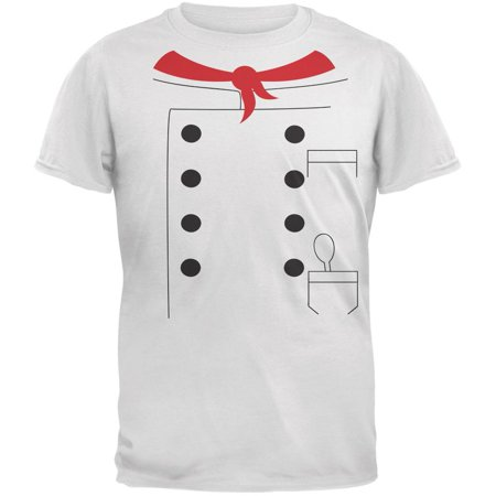 Halloween Chef Costume White Adult T-Shirt](Halloween Chef)