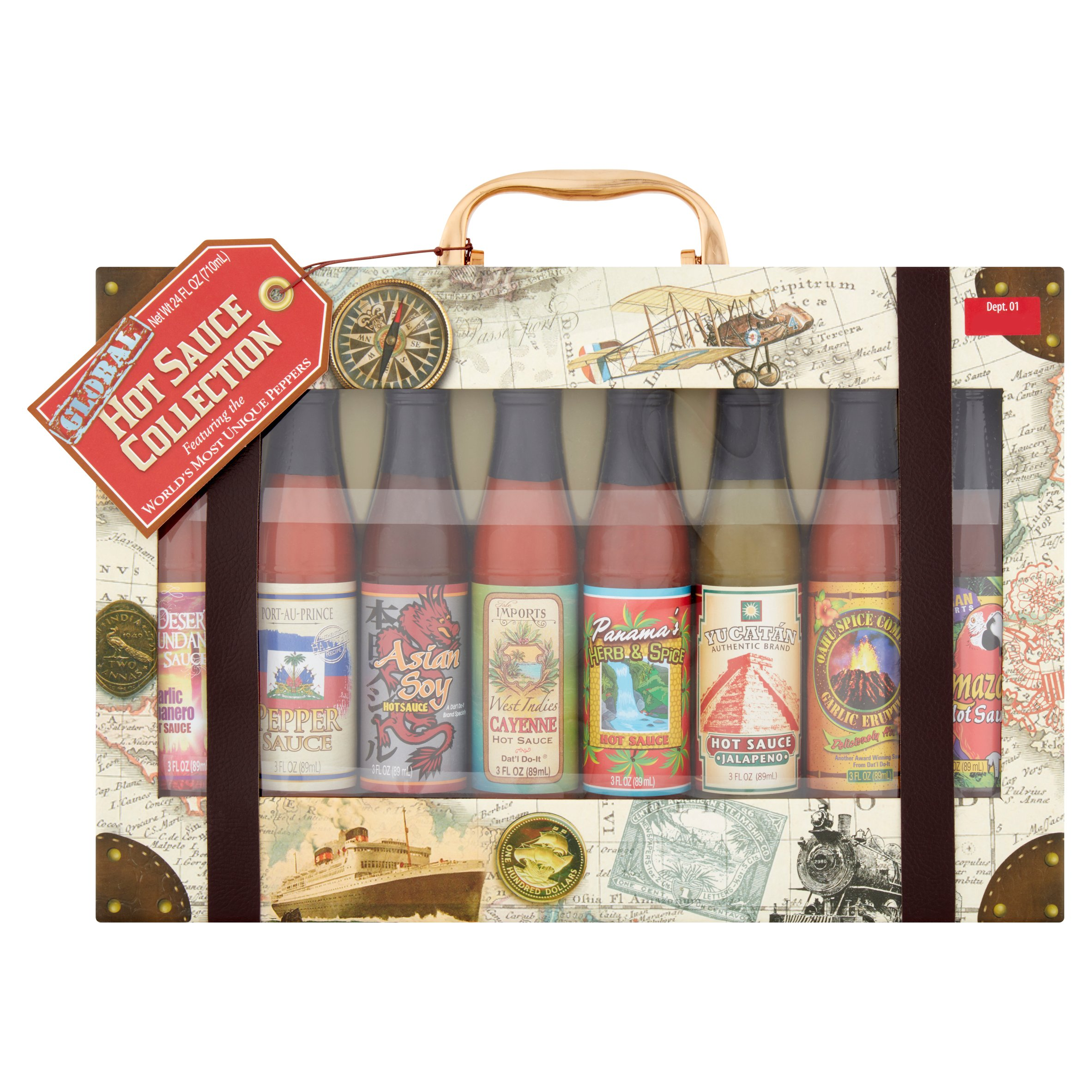 Global Hot Sauce Collection, 8 Piece Gift Set