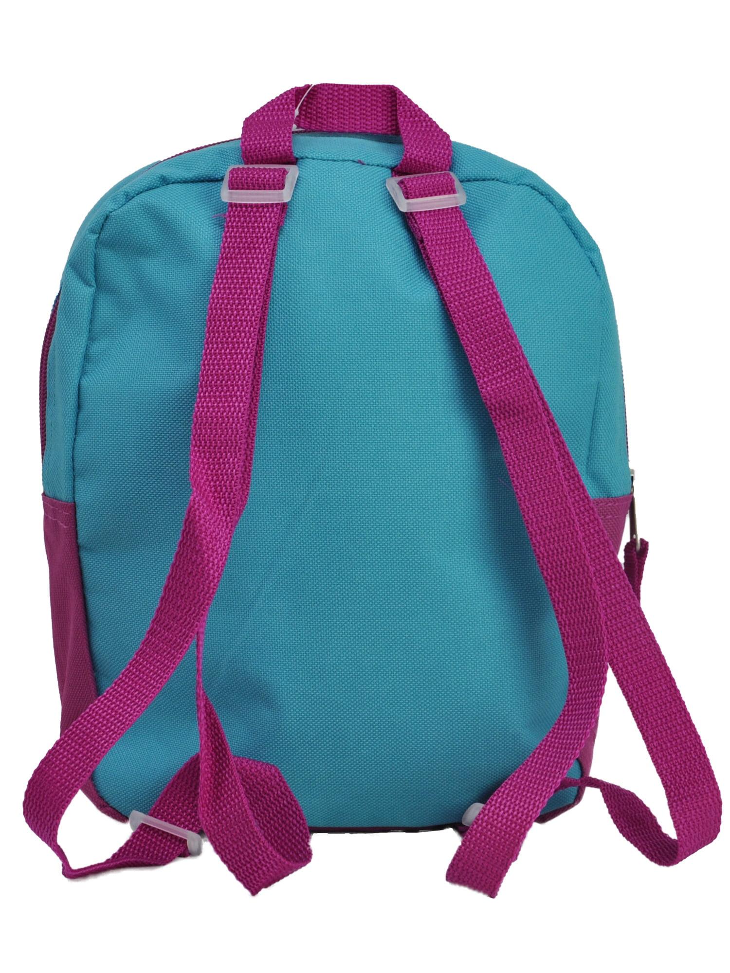 "Girls Frozen Anna Elsa Mini 10/"" Backpack Toddler Pre-School Pink Snow Flakes"