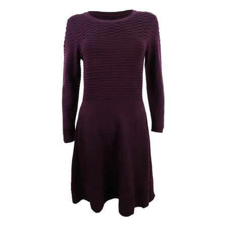 Jessica Howard Women's Petite Fit & Flare Sweater Dress (PXL,