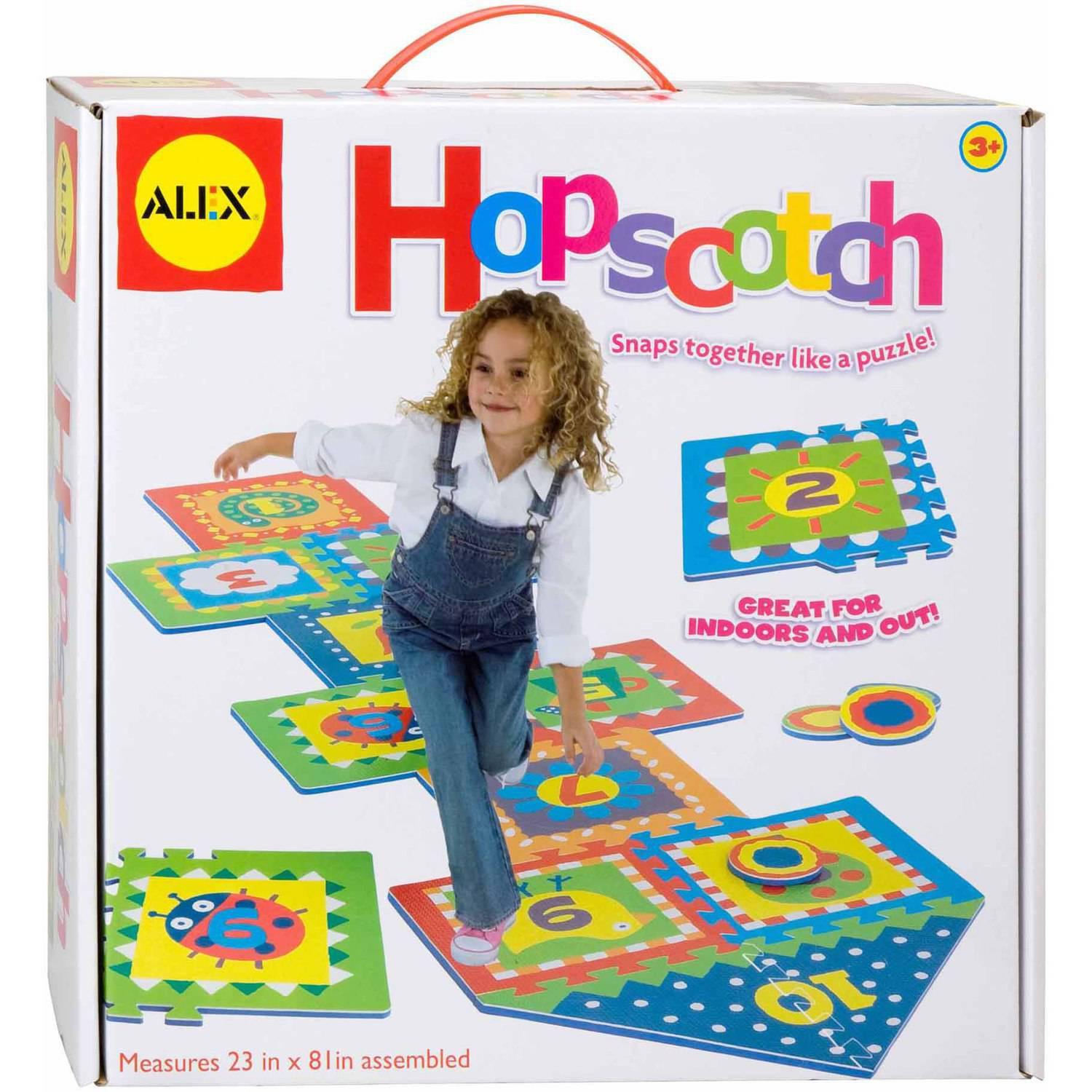 ALEX Toys Active Play Hopscotch with Snap Together Boards