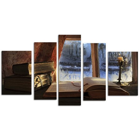5 Panel Oil Painting Canvas Art Posters Picture Wall Modular Painting For Living Room Unframed - image 6 de 6