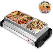 NutriChef PKBFWM25 Electric Food Warming Tray Buffet Server Hot Plate .