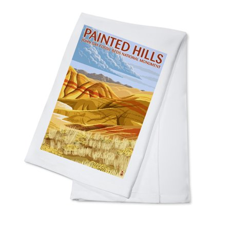 John Day Fossil Beds, Oregon - Painted Hills - Lantern Press Artwork (100% Cotton Kitchen Towel)