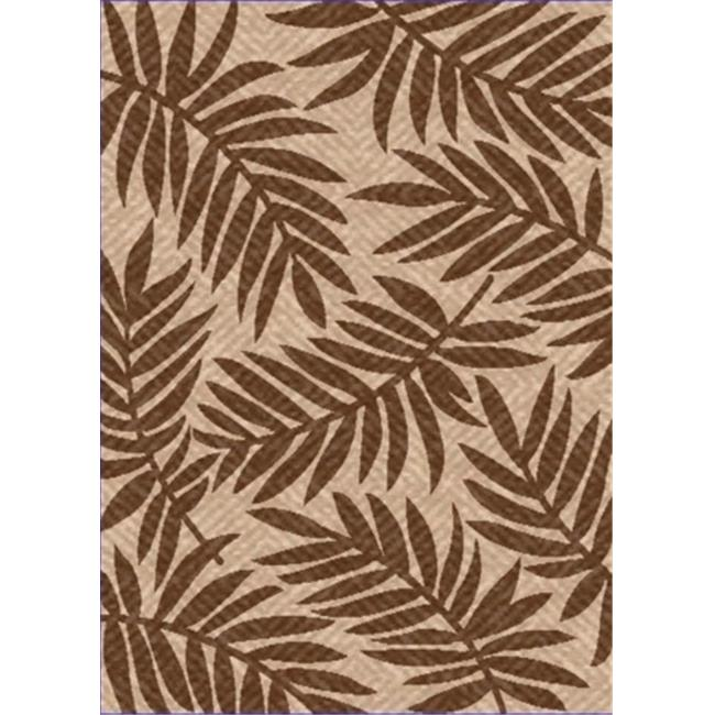 IMS 26071990205083 5 ft. x 8 ft. HEAVYWEIGHT OUTDOOR PATIO RUG-CAPTIVA PATTERN-BEIGE & BROWN